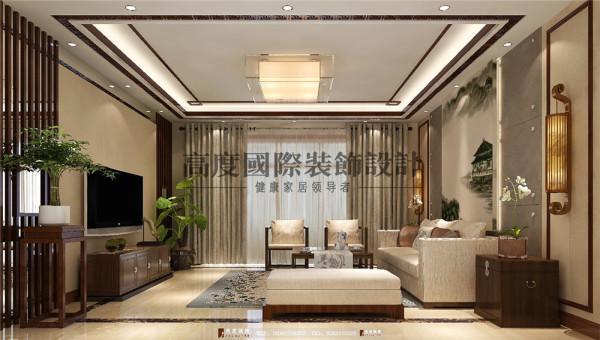 华润幸福里客厅细节效果图---高度国际装饰设计