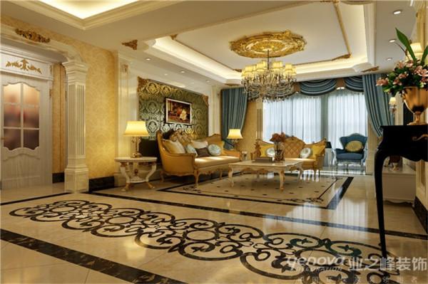 昌盛双喜城168平米奢华洛可可风格装修效果图——太原业之峰装饰