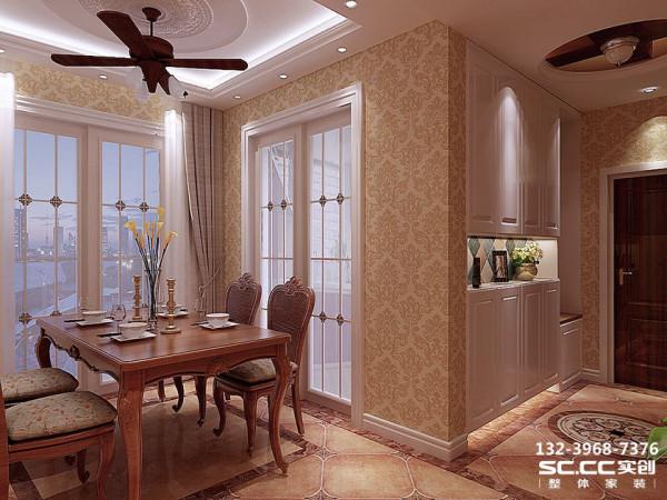 设计 理念美式餐桌的最迷人之处还在于造型、纹路、雕饰和色调细腻高贵,耐人寻味处透露亘古而久远的芬芳 主材 说明福乐阁墙漆,以诺地砖