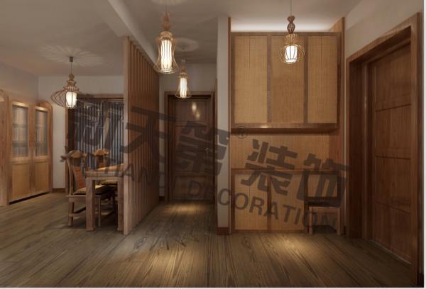 新中式禅意客厅厨房卧室餐厅图片