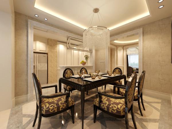 开放式的厨房设计,使餐厅和厨房更见联动充满变化,整个厨房设计都以白色为主线,干净、整洁、漂亮。