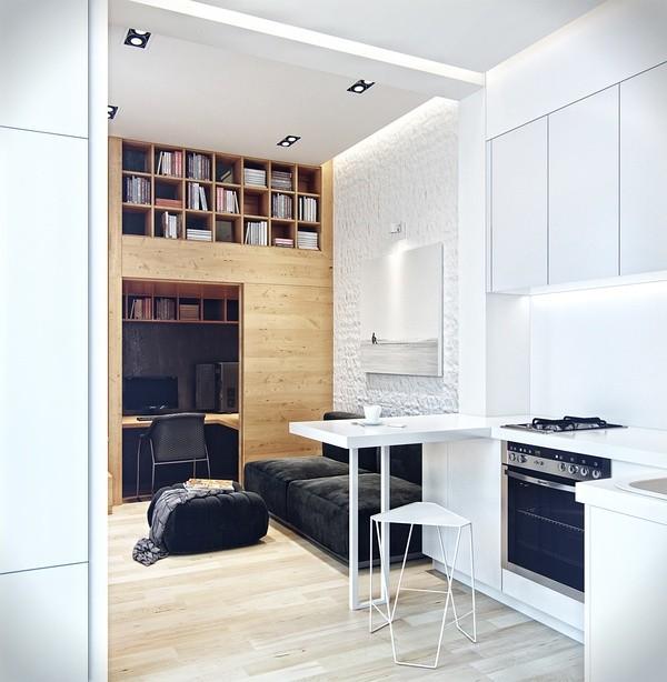设计师Denis Svirid设计的小空间Loft  七九八零室内设计分享