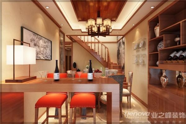太原业之峰装饰    红叶豪庭-220.00㎡-新中式风格效果图