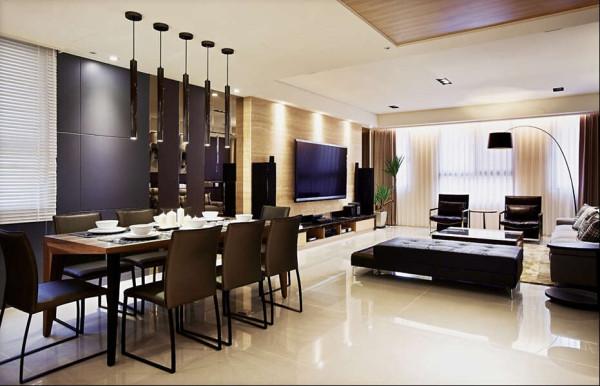 客、餐厅採併立而开放的格局设计,延展出宽敞视野,而温润而沉稳的色调也展现出不凡品味