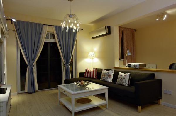 保利花园毛坯房实创装修的,客厅设计