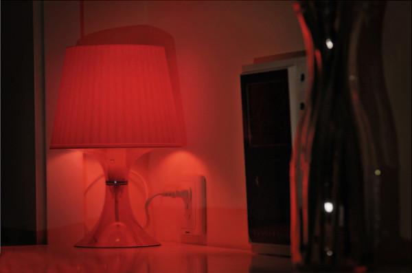 保利花园毛坯房实创装修的,卧室的魅力灯光