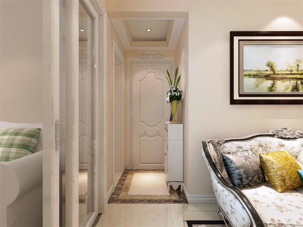 这样的设计使的客厅与次卧相通,使得客厅更宽敞,两者之间我们选用了玻璃门做房间的隔断,在次卧兼具了学习、睡觉、休息沙发、书桌、榻榻米、衣柜储藏等众多的功能。