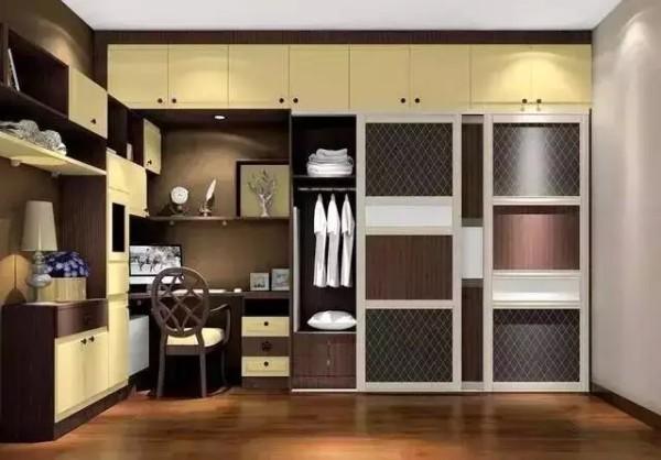 5:整体功能性衣柜 衣柜、书桌柜、梳妆台都有了,你还有什么不满足的?赶紧下手吧!