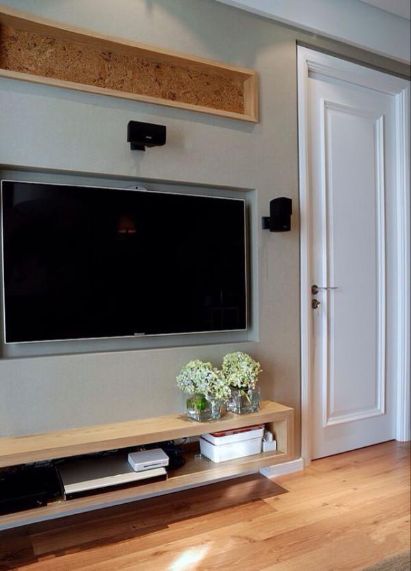和平里小区90平米两居北欧风格电视背景墙装修效果图
