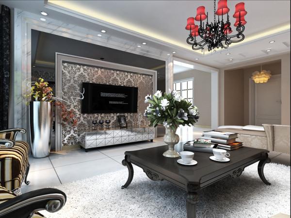 生活家装饰--日光清城160平米四居现代欧式风格电视背景墙装修效果图