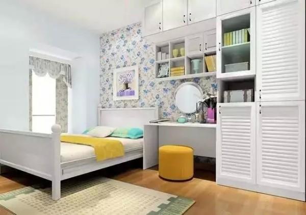 3:梳妆台衣柜组合 空间太小,但是家具一件都不想少,看看这款梳妆台衣柜组合吧,你值得拥有!