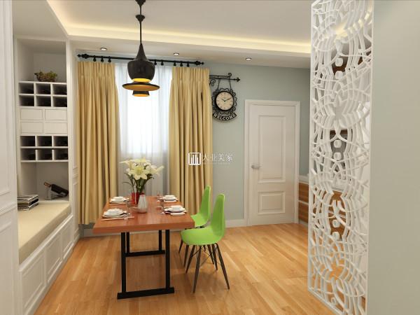 本设计方案采用舒适清新蓝色为主色调,墙面局部用文化石点缀,使用原木色装饰柜与家具,让其本身所具的柔和色彩