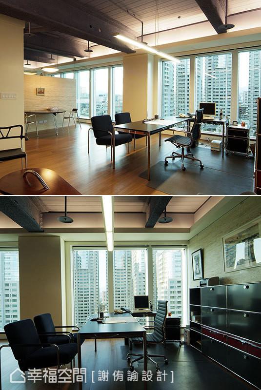 采用瑞士知名家具品牌的办公室家具,型随机能的金属文件柜设计,凸显简约利落的空间调性。