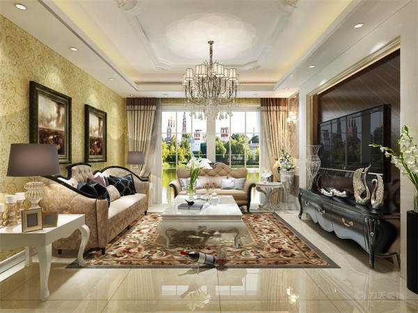 本案风格定义为欧式。欧式风格沿袭古典欧式的主元素,又融入了现代的生活元素。使居室有的不只是豪华,更多的是惬意和浪漫。