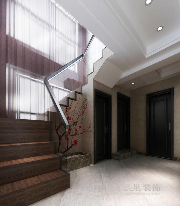 民安北郡四居室新中式装修效果图——楼道