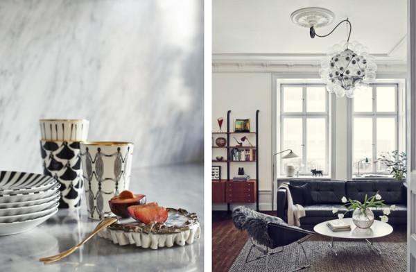 Nylander常逛古董店,除了现代家具,家里常见一些二手沙发或座椅,曾经被使用的痕迹成为别致的修饰。