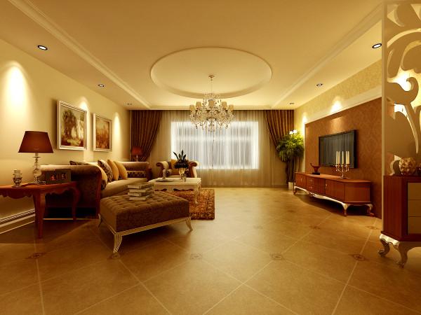 """客厅秉承了大尺度、大空间的理念,重新诠释了""""宽敞""""的定义。让视线可以任意地穿行,充分享受空间带来的自由感"""