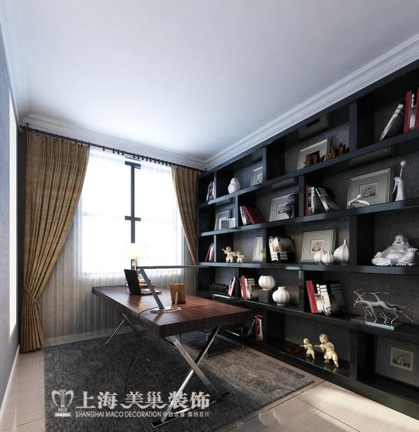 民安北郡四居室新中式装修效果图——书房