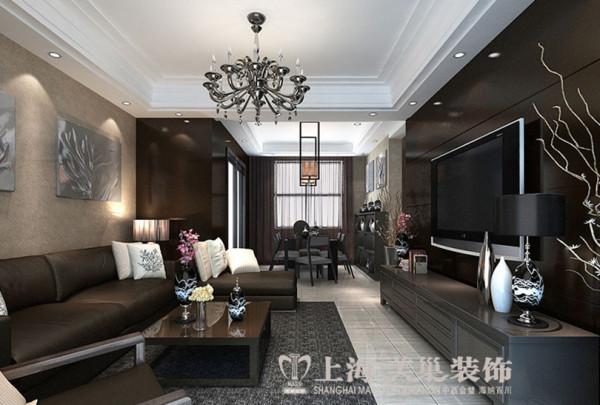 民安北郡四居室新中式装修效果图——客厅