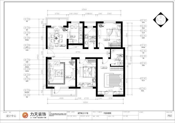 首先,从入户门进入,左手边是餐厅餐厅左前方是厨房,入户门的右手边是客厅,客厅与餐厅相对,与厨房相邻的是公用卫生间在于用户们的左手边,再往走廊前方是次卧,次卧的对面是主卧。