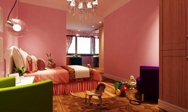 粉色的女儿房设计,源于粉色能提供给女孩子甜甜的少女心