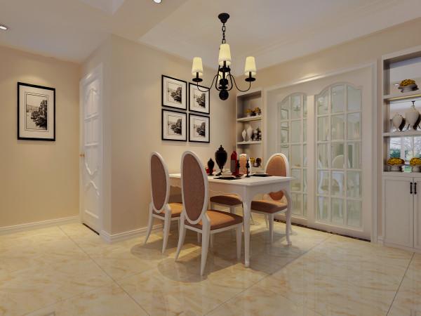 生活家装饰--保利拉菲公馆97平米三居现代风格餐厅装修效果图 理念:淡米色的木质餐桌和的餐椅本身让餐厅散发着清新的味道。别致的鹿角餐厅吊灯在淡雅的感觉中加了一点高贵的格调。