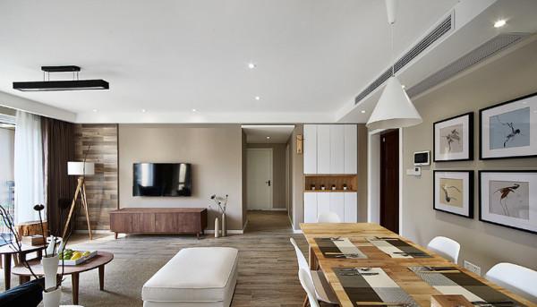 欧式混搭三居白领北欧风格客厅装修卧室设计玄关