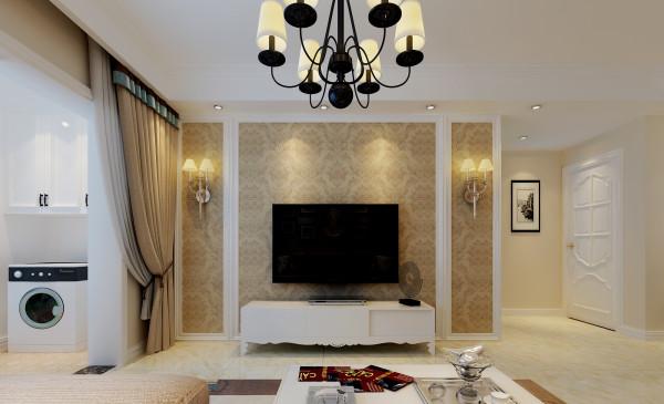 生活家装饰--保利拉菲公馆97平米三居现代风格客厅装修效果图 理念:与现代人紧张忙碌的生活相适应,现代风格的客厅只强调必要的沙发、茶几和组合电器装置,不再有观赏性强的壁炉和繁琐的布艺窗帘等过分装饰。