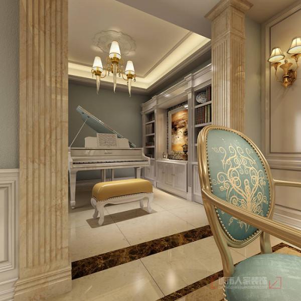华侨城天鹅堡150平米欧式装修 书房