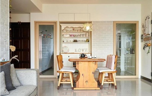 【高清】天鹅堡甜蜜日式乡村婚房 成都高度国际别墅装饰设计 餐厅装修设计 成都装修公司
