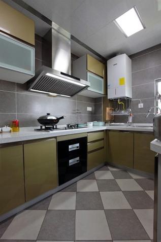 中登悦园现代风格三居室厨房效果图