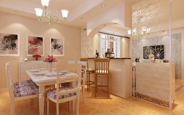 餐厅—— 英式田园家具的家具特点主要在华美的布艺以及纯手工的制作,布面花色秀丽,多以纷繁的花卉图案为主。