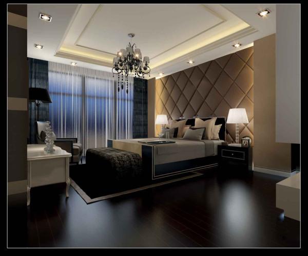 合肥生活家巴黎都市108平米三居现代风格卧室装修效果图(理念主卧室和客卧室做了床头背景墙,和要选的欧式的床床头有个很好的呼应.这样既不是很平淡又不是很复杂的装饰让人在这个空间休息很放松)