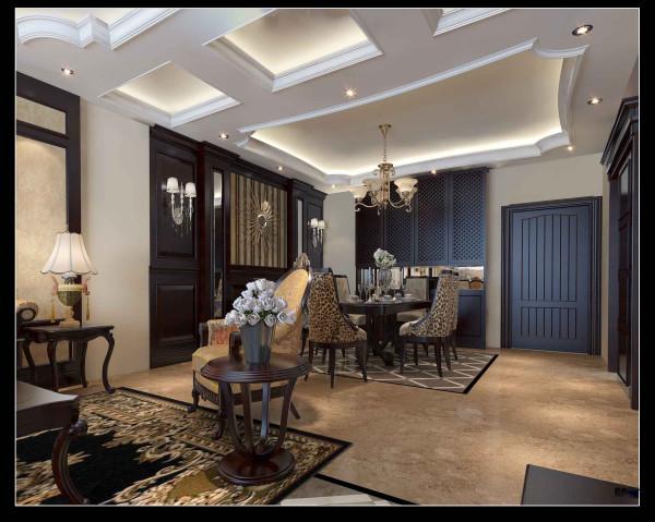 合肥生活家巴黎都市108平米三居现代风格餐厅装修效果图(理念欧式风格从华丽的装饰、浓烈的色彩、精美的造型来达到雍容华贵的装饰效果。而欧式客餐厅吊顶的装修,就更突显了欧式的典雅与华丽。)
