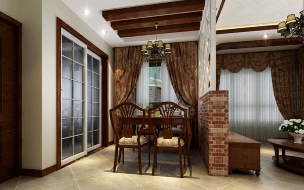 该案突出了生活的舒适和自由,不论是感觉笨重的家具,还是带有岁月沧桑的配饰,特别是在墙面色彩选择上,自然、怀旧、散发着浓郁泥土芬芳的色彩。