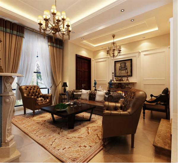 上海红墅别墅户型装修美式风格设计方案展示,腾龙别墅设计师 周灏作品,欢迎品鉴!