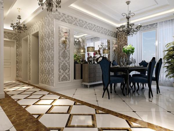 在配饰上大量使用了银镜、银制灯饰,虽没有富丽堂皇的富贵,但在一片银光闪闪中,却又表现出了另一种冷俊的奢华。