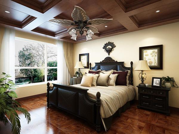 主卧室相对华丽,生活需要光合作用,让色彩跳跃起来。空间内不仅找不到主色调,而且对比色乱撞,色彩丰富而强烈。