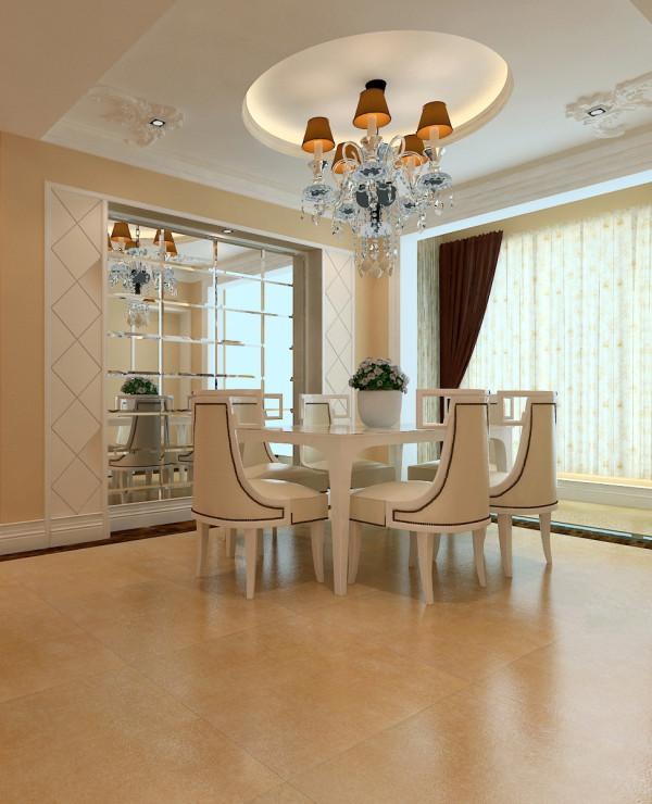 升龙国际中心小区 138平三居室 现代简约风格 装修设计案例 效果图-餐厅设计方案