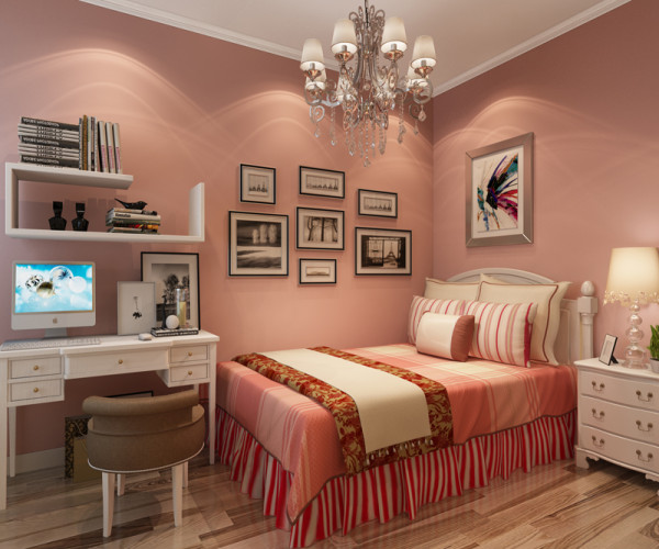 正商恒钻 89平米两居室 现代简约风格 装修设计案例 装修效果图-儿童房设计方案