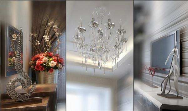 升龙国际中心小区 138平三居室 现代简约风格 装修设计案例 效果图-玄关装饰设计