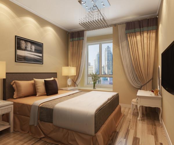 正商恒钻 89平米两居室 现代简约风格 装修设计案例 装修效果图-卧室设计方案
