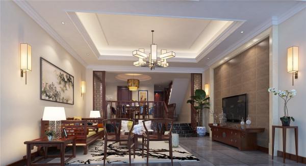 嘉怡水岸别墅户型装修简约中式风格设计方案展示,腾龙别墅设计师李明远作品,欢迎品鉴