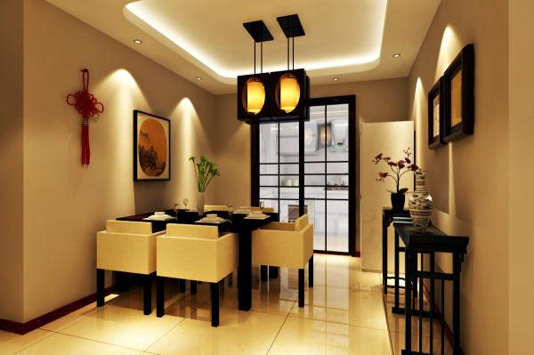 阅山公馆 127平三居室 新中式风格 装修设计案例 效果图-餐厅
