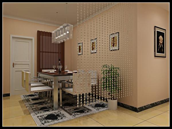 海马公园 三居室139平米 现代简约风格 装修设计案例 效果图-餐厅