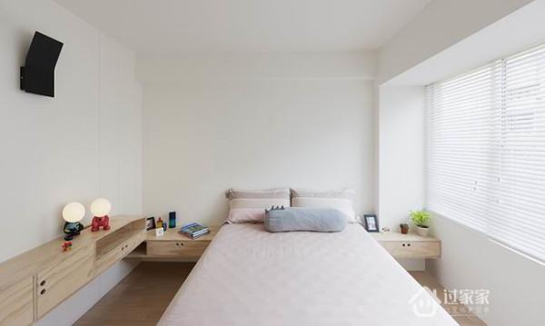 设计师建议,家具家饰配置部分,可采用粉色、蓝色调和,形状选择方块状,就像杂志中北欧居家。