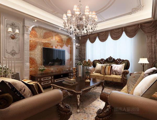 保利拉菲公馆140平米法式风格客厅