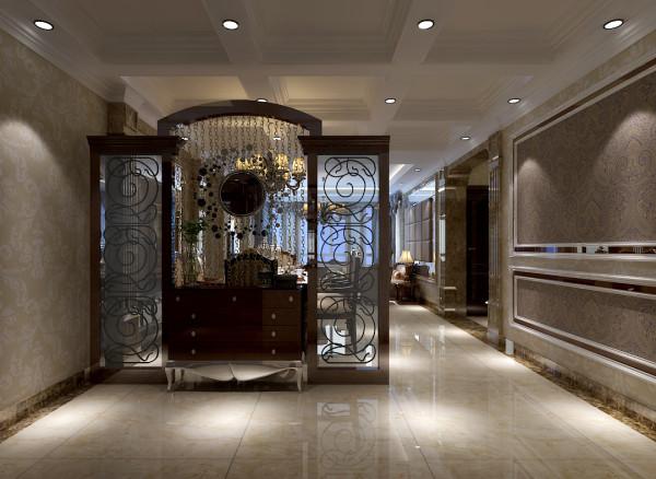 卢浮宫馆 158平三居 古典欧式风格 装修设计案例-入户玄关