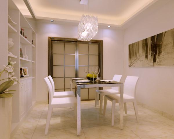 天下城 150平三居室 现代简约风格 装修设计案例-餐厅