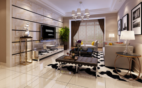 永威五月花城 121平三居 现代风格 装修设计案例-客厅 以现代风格为主,通风、采光皆佳的居住空间,给人明亮、健康的感受,无形之中让住在里面的人都变的开朗起来。